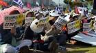 충남인권조례 반대단체, 대규모 '폐지촉구' 시위 개최