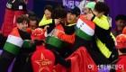 [아시아투데이 평창 포토] 환호하는 전재수 헝가리 쇼트트랙 대표팀 코치