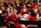 북한 응원단·기자단·태권도 시범단 환영 만찬