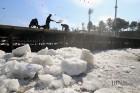 청주 스케이트·썰매장 얼음 제거 한창