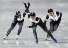 [평창올림픽] 일본, 올림픽 신기록으로 여자 팀 추월 우승