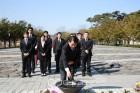 더불어민주당 부산진구을 예비후보들, 봉하마을 찾아 '승리 다짐'