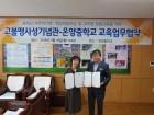 아산 고불맹사성기념관, 온양중과 교육 업무협약 체결