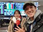 """곽민정 해설위원, 박재민과 다정한 투샷 공개…""""평창에서 만나니 새롭군요"""""""