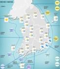 전국, 아침까지 비온 뒤 차차 갬…서부지역 미세먼지 '나쁨' 수준