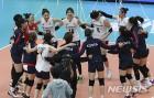 한국 여자배구, 이탈리아에 0-3으로 완패…5연승 무산
