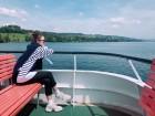 """'미미샵' 산다라박, 아름다운 스위스 풍경 뒤로하고 사색 잠겨…""""직접모는 배로 항해해서 가고싶다"""""""