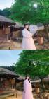 홍진영, 선녀로 변신한 촬영 현장 공개…'날개옷 잘 챙기세요'