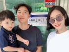 이현이, 남편 홍성기-아들 윤서 군과 함께한 투표 인증샷 공개…'비주얼 가족 등장'