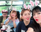 홍진영, '뭉쳐야 뜬다' 촬영 중 한 컷…서민정+이상화 선수까지