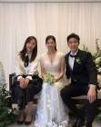 """한유미, 장신영·강경준 스몰웨딩 인증샷 """"결혼 축하해"""""""