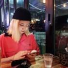 '연애혁명' 232 작가, 패셔너블한 근황...'하얀피부+금발머리'