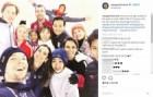[포토] 렴대옥-김주식, 외국선수들과 갈라쇼 합동 훈련 '싱글벙글'