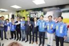 박남춘 민주당 인천시장 후보, 동원 '세몰이' 선거 개소식 탈피