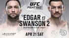 [UFC FIGHT NIGHT 128] 메인카드만큼 흥미로운 에드가-스완슨, 승리 배당은?