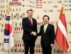 정세균 의장, 라이몬즈 베요니스 라트비아 대통령과 북핵 문제 의견 나눠