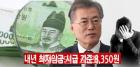 '최저임금 후폭풍', 문재인 대통령 지지율 61.7%로 떨어져