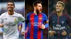호날두-메시-네이마르, FIFA 올해의 선수 최종 후보 선정