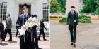 '떡 벌어진 어깨8등신 비율' 뽐낸 '하시2' 직진남 정재호의 버클리 졸업사진