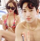 """'살림하는 남자들 시즌2' 미나·류필립 부부, 수영복 몸매 공개… """"신혼여행 마지막날"""""""