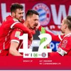 바이에른 뮌헨, 볼프스부르크에 2-1 역전승...리그 10연승 달성
