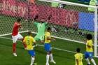 브라질 vs 스위스 1-1 무승부…네이마르 봉쇄 작전 성공